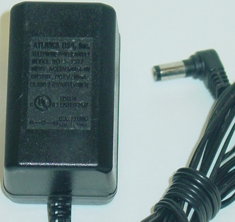 ATLINKS 5-2527 AC ADAPTER 9VDC 200MA USED 2 x 5.5 x 10mm