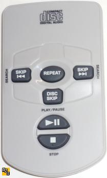 Compact Disc Digital Audio 6-buttons Remote for 5CD Changer Hom