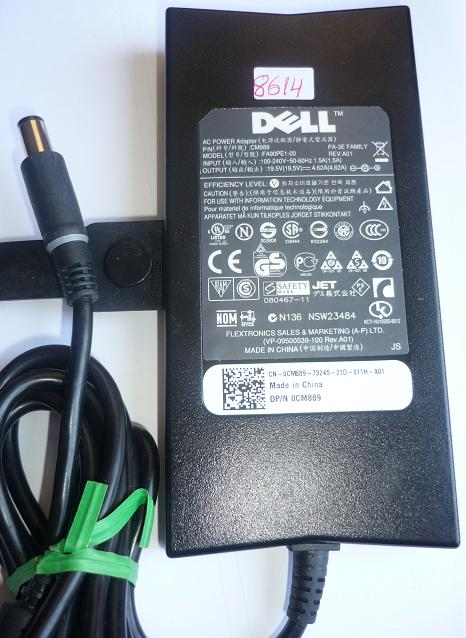 DELL FA90PE1-00 AC ADAPTER 19.5VDC 4.62A USED -(+) 5x7.3x12.5mm