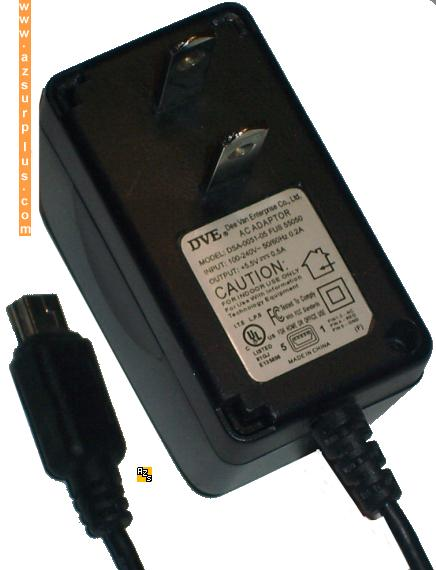 DVE DSA-0051-05 FUS 55050 AC ADAPTER 5.5VDC .5A USB POWER SUPPLY