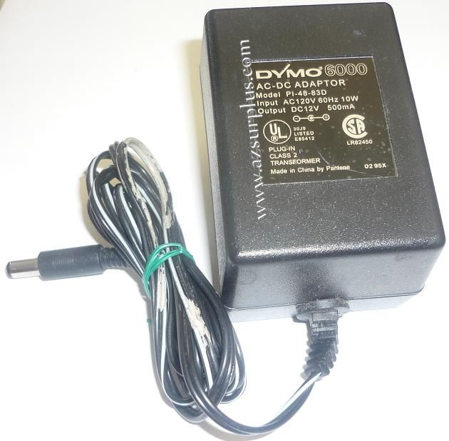 DYMO 6000 PI-48-83D AC ADAPTER 12VDC 500mA USED -(+) 2x5.5mm TRA