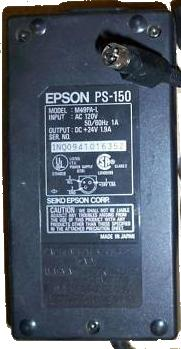 EPSON PS-150 M49PA-L AC ADAPTER +24VDC 1.9A POWER SUPPLY 3Pin