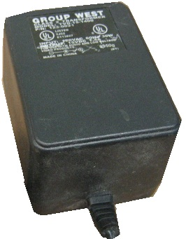 GROUP WEST TVD-15-1400 AC ADAPTER 15VDC 1.4A USED 2x5.3x12mm