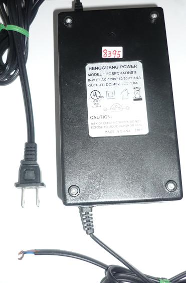 HENGGUANG HGSPCHAONSN AC ADAPTER 48VDC 1.8A USED CUT WIRE POWER
