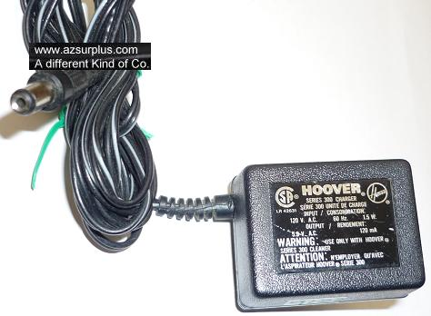 HOOVER SERIES 300 AC ADAPTER 5.9VAC 120mA USED 2x5.5mm ROUND BAR