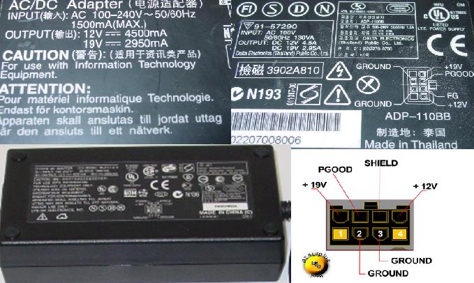 HP PA-2111-01H AC DC ADAPTER 19V 2950mA POWER SUPPLY