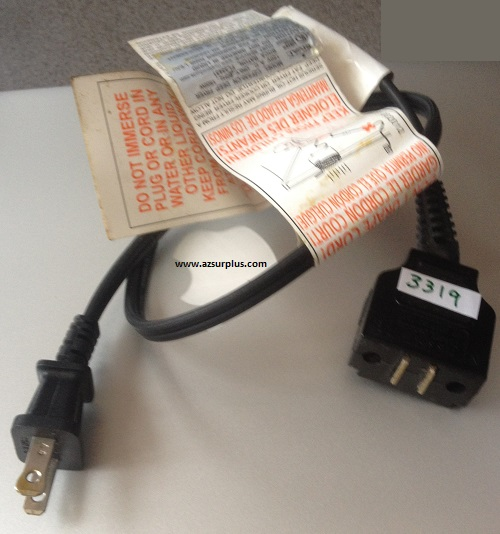 Hamilton Beach PL1215 AC POWER CABLE CORD 2 PIN Hole rectangle w