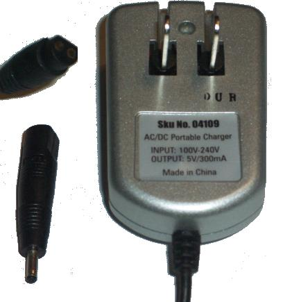 JUST WIRELESS 04109 AC DC ADAPTER 5V 300mA POWET SUPPLY