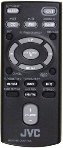 JVC RM-SUXEP100J infrared Remote Control 22 Buttons Used