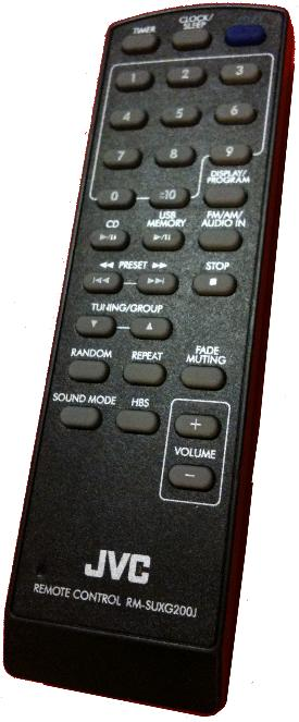 JVC RM-SUXG200J infrared Universal AV Programmable Remote Contro