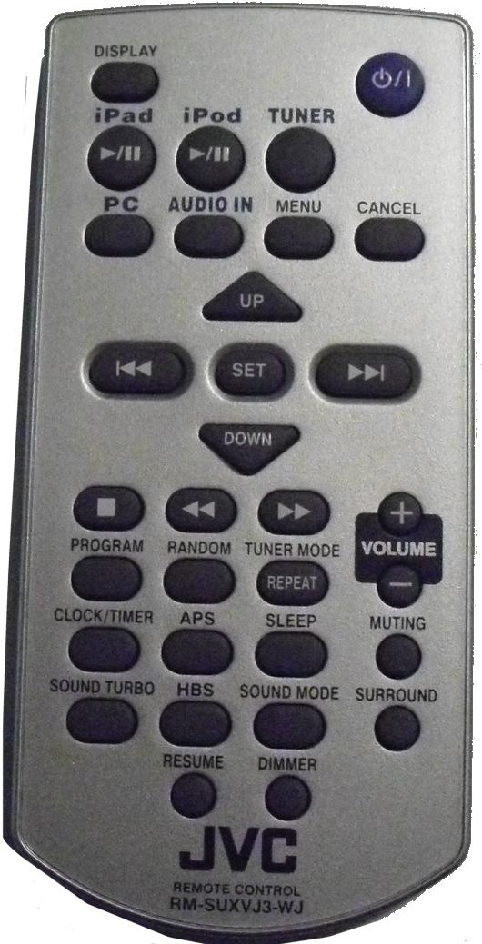 JVC RM-SUXVJ3-WJ infrared PORTABLE DVD Remote Control 32 Buttons