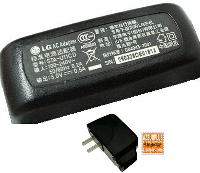 LG STA-U11CD AC ADAPTER 5V 0.7A TRAVEL CHARGER FOR CELL PHONE