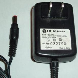 LG AC-10W AC ADAPTER 5.2V DC 1A POWER SUPPLY ■ Condition: