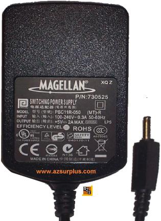 MAGELLAN PSC11R-050 AC DC ADAPTER +5V 2A POWER SUPPLY