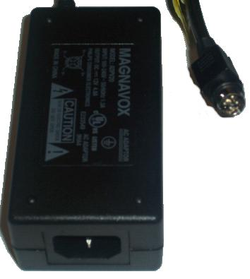 MAGNAVOX ADPV20 AC DC ADAPTER 12V 4.8A POWER SUPPLY
