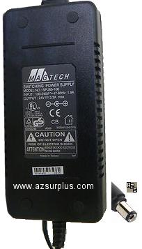 Magtech SPU65-108 AC Adapter 24vdc 3.3A (+)- 2.5x5.5mm Used 100-
