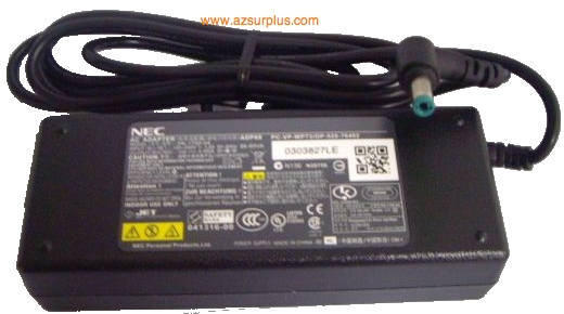 NEC PA-1750-07 AC ADAPTER 15VDC 5A ADP80 POWER SUPPLY NEC Laptop