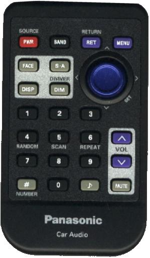 PANASONIC YEFX9992684 infrared CAR AUDIO Remote Control 27 Butto