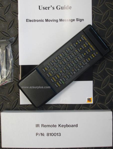 Pro-lite 810013 IR Remote Control NEW for LED Signs