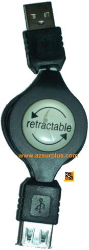 RETRACTABLE USB A EXTENTION CABLE 200703 Used
