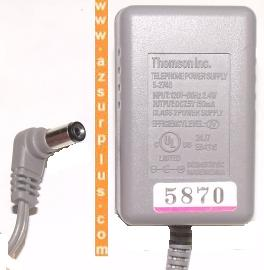 THOMSON 5-2748 AC DC ADAPTER 7.5V 150mA TELEPHONE POWER SUPPLY