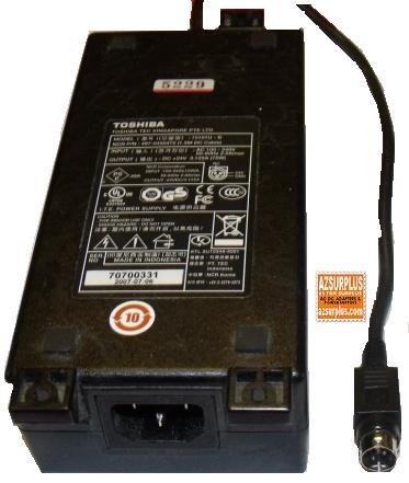 TOSHIBA TEC 75101U-B AC DC ADAPTER +24V 3.125A 75W POWER SUPPLY
