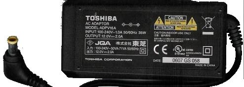 TOSHIBA ADPV16A AC DC ADAPTER 12V 2A 35W POWER SUPPLY DVD PLAYER