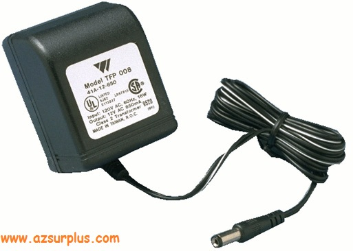 W TFP 008 41A-12-850 AC ADAPTER 16VAC 850mA POWER SUPPLY DIRECT