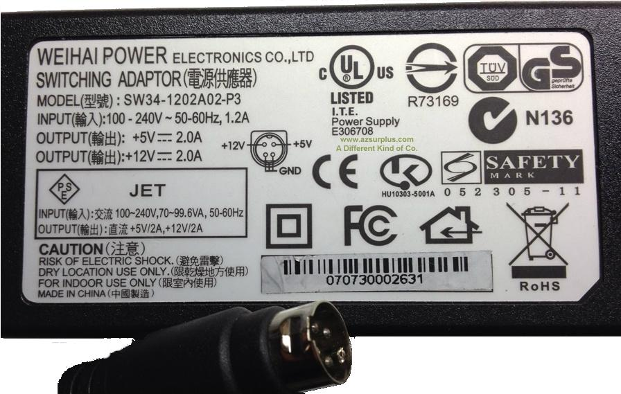 Weihai Power Electronics SW-1202A02-P3
