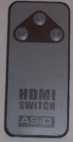 ASID TECH 3 IN 1 HDMI SWITCH REMOTE