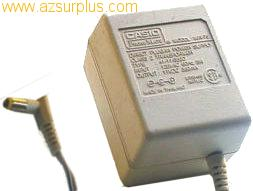 CASIO M/N-75 AC ADAPTER 11VDC 350mA -(+)- USED 3x5.4x13.7mm