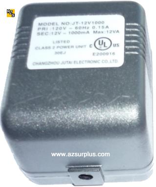 CHANGZHOU JT-12V1000 AC ADAPTER 12VAC 1A 2x5.5mm ~(~) Jack Femal