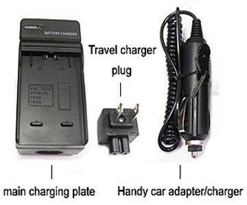 Battery Charger for HITACHI DVD CAM DZ-BX35A DZ-ACS3 AC New One