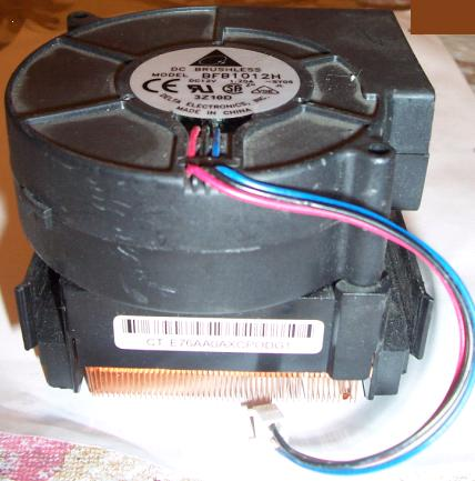 DELTA ELECTRONICS DC BRUSHLESS BFB1012H Heatsink With fan 3z10d