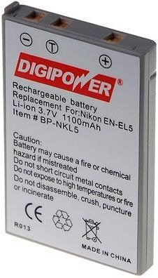 DIGIPOWER BP-NKL5 Lithium Ion Battery 3.7VDC 1100mAh