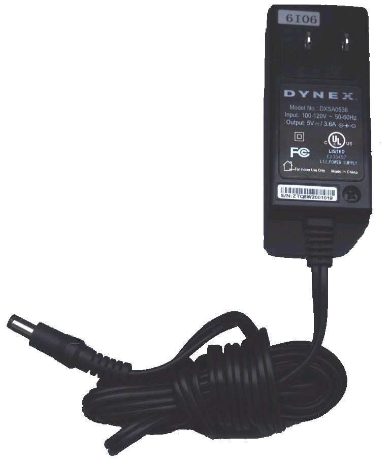 DYNEX DXSA0536 AC DC ADAPTER 5V 3.6A POWER SUPPLY