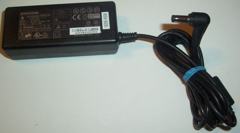 LI SHIN EMACHINES 0225C1965 AC ADAPTER 19VDC 3.42A NOTEBOOK POW