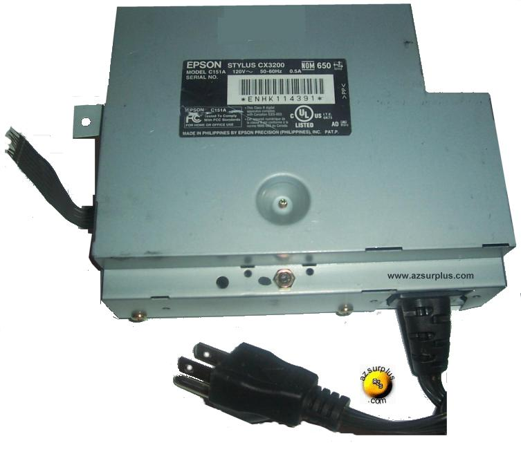 EPSON C151A POWER SUPPLY FOR EPSON STYLUS CX3200 PRINTER