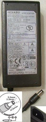 HYUNDAI SAD04212-UV AC Adapter 12VDC 3.5A Power Supply LCD Mon