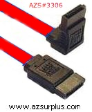 "SATA CABLE 18"" Length RED SERIAL ATA 90° Right angle one side C"