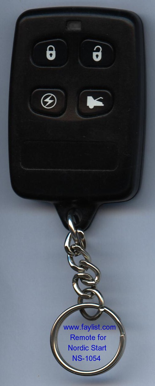 NORDIC START REMOTE for NS-1054 YELLOW Light USED Car Alarm Syst