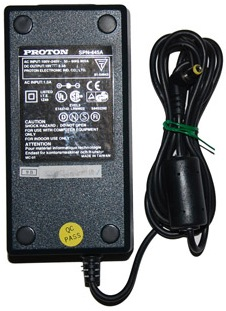 PROTON SPN-445A AC ADAPTER 19VDC 2.3A USED 2x5.5x12.8mm 90 DEGR