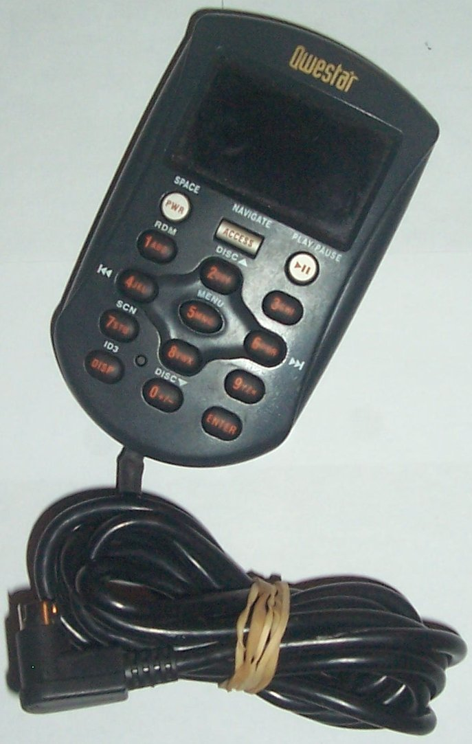 QWESTAR WIRE REMOTE FOR CAR CD CHANGER