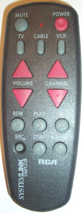 RCA SYSTEM LINK SIMPLE 3 REMOTE CONTROL UNIT