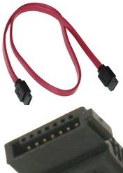 "IEC 6017B0037001 SATA CABLE 22"" L RED SERIAL ATA 56cm 80 Degrees"