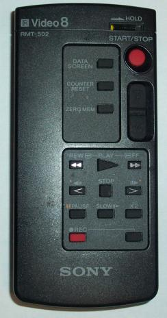 SONY RMT-502 VIDEO8 REMOTE FOR SONY CCD-F501 CAMCORDER Conditio