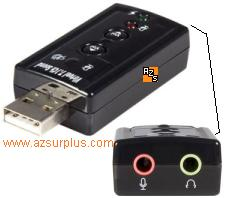 StarTech ICUSBAUDIO7 Virtual 7.1 USB Stereo External Sound Card