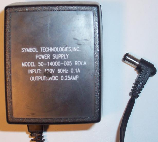 SYMBOL 50-14000-05 AC DC Adapter 5V 0.25A POWER SUPPLY