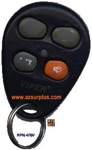 VIPER 476V EZSDEI476 CAR REMOTE Transmitter Key Less Entry Green